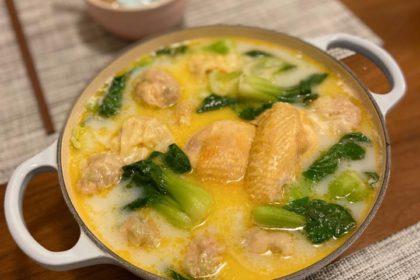 簡易雲吞雞鍋 Wonton Chicken Soup