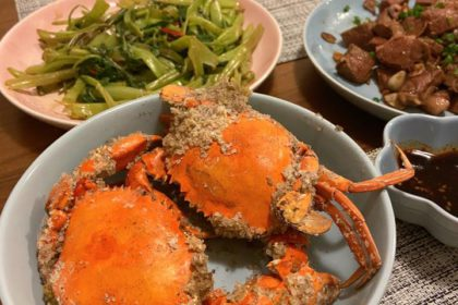 鹽焗奄仔蟹 Salt Baked Virgin Crabs