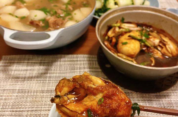 薑蔥桶蠔煲 Stewed Oysters Pot with Scallions and Ginger