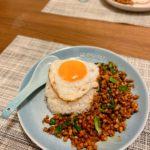 泰式肉碎煎蛋飯 Pad Kra Pao Mhoo