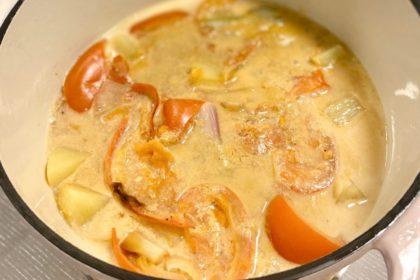 無水料理法 極濃蕃茄薯仔魚湯 Waterless Processed Ultra Thick Fish Stock with Potatoes and Tomatoes