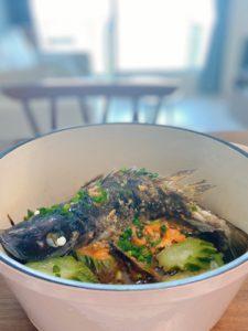 無水蒸魚 waterless steamed fish