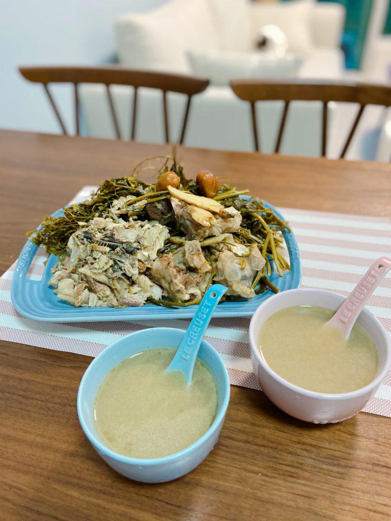 野葛菜生魚湯 Fieldcress and Blotched Snakehead Soup