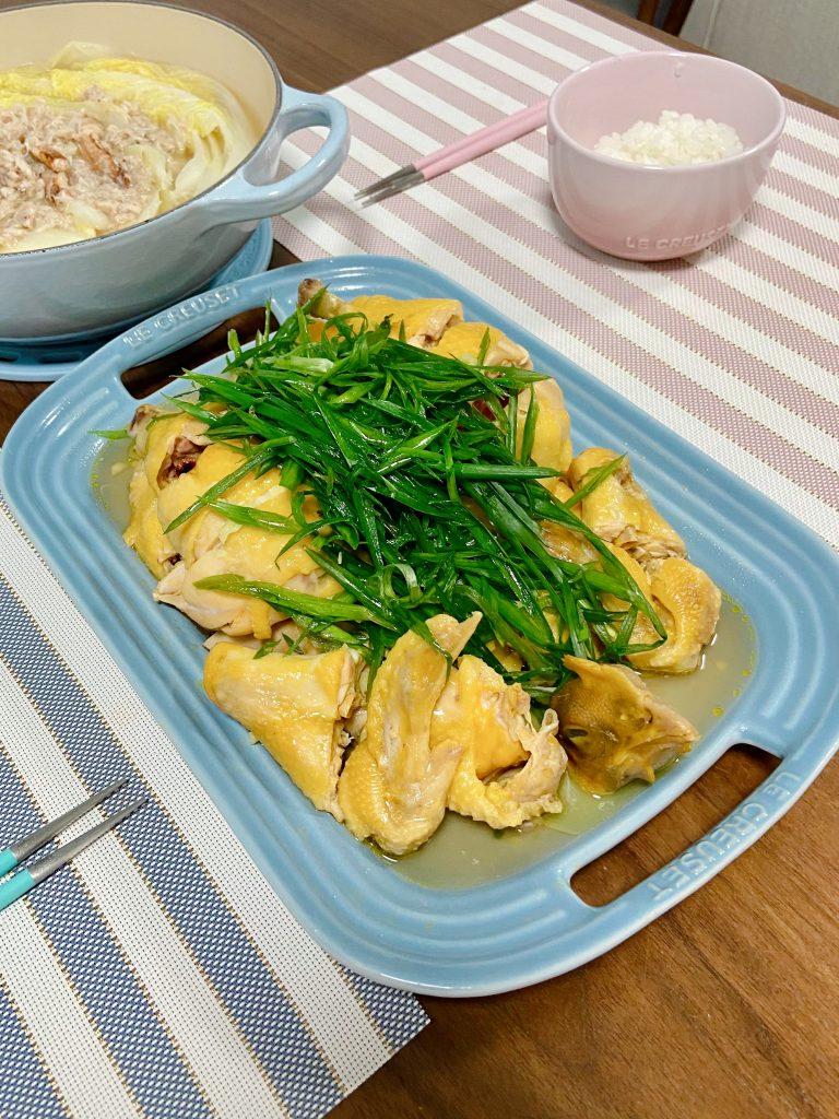 薑蔥霸王雞 Steamed Chicken with Ginger and Scallion